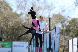 Tiffany Ballow and Marcie - DockDogs Big Air