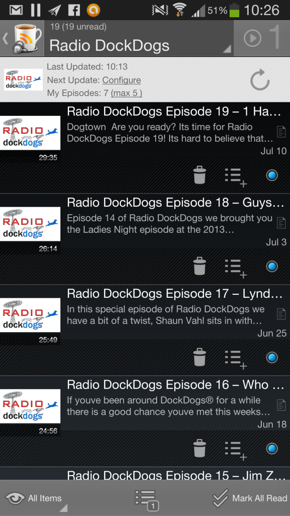 Radio DockDogs on Android Podcast